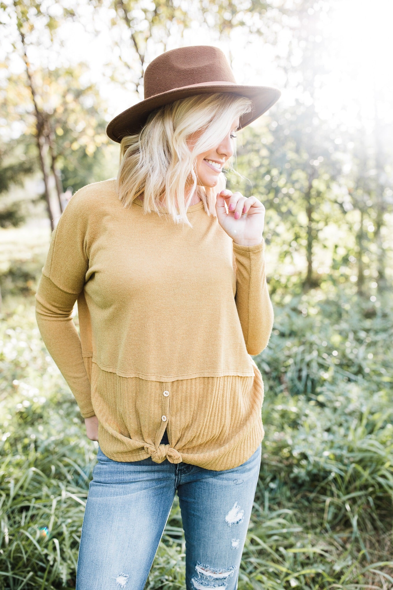 Mustard Ribbed Sweater