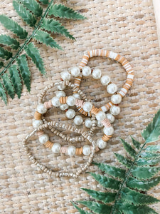 Pearl Beaded Bracelet Stack