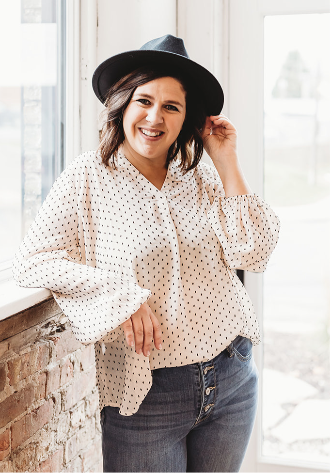 Ivory & Black Dotted Blouse
