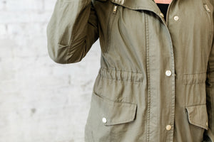 Olive Utility Hooded Jacket