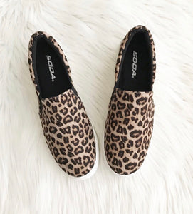 Leopard Print Slip on Sneakers – The