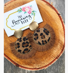 Leopard Tassel Earrings