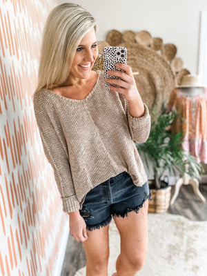 Mocha Lightweight Sweater