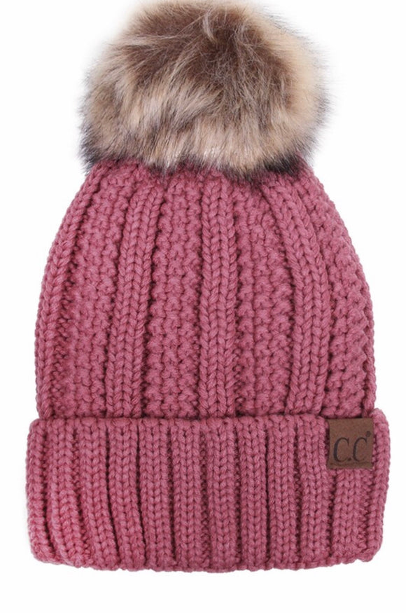 Fleece Lined Knitted Beanie