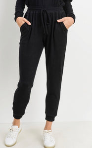 Black Pocket Joggers