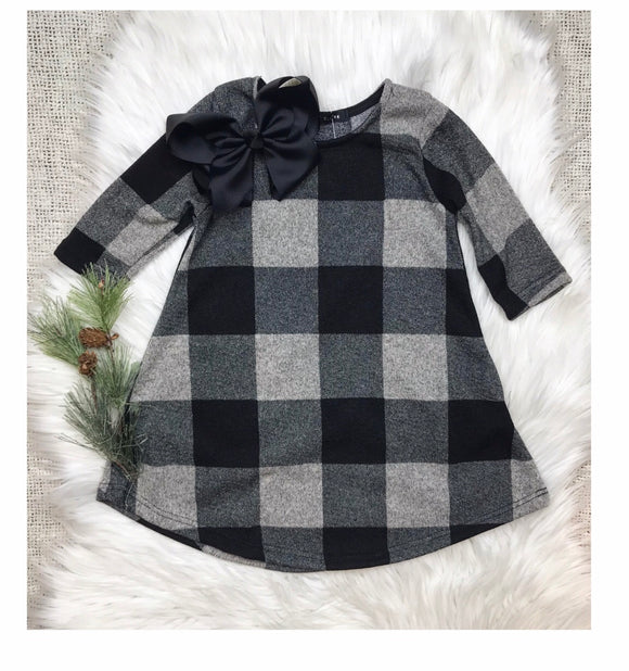 Buffalo Plaid Fit & Flare Dress