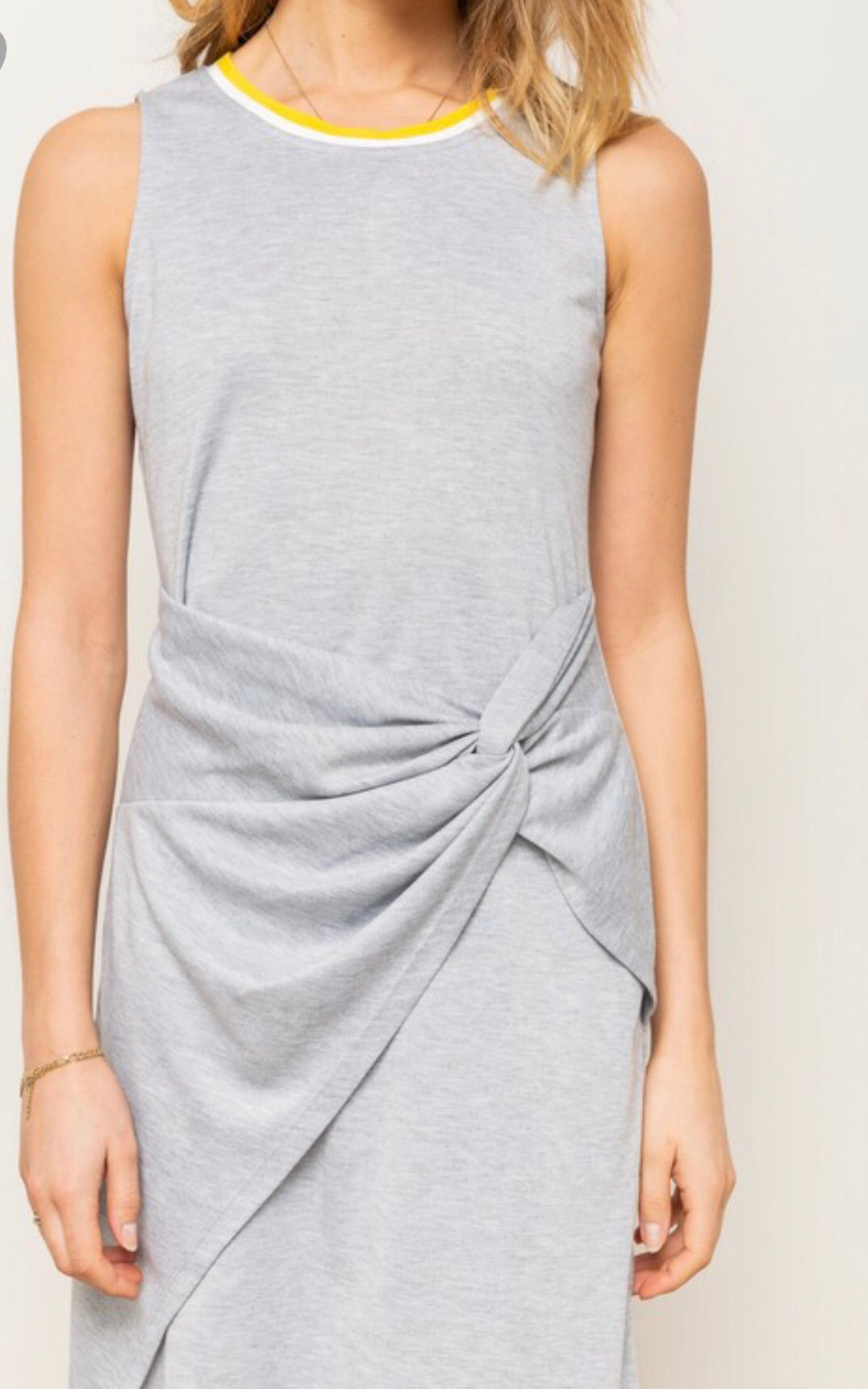 Grey Twist Front Dress