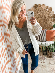 Ivory Balloon Sleeve Cardigan