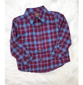 TEA Collection Plaid Button Shirt
