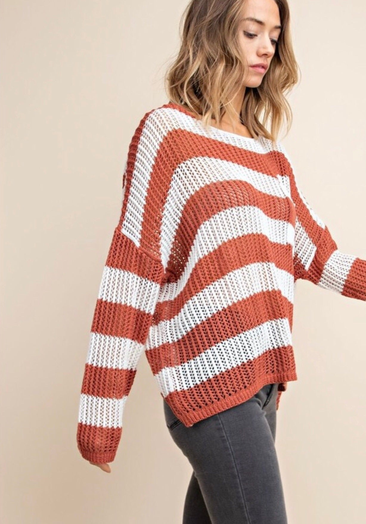 Spice Bold Stripe Sweater