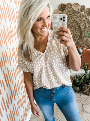 Oatmeal Dotted Top