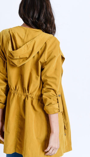 Mustard Light Weight Hooded Jacket