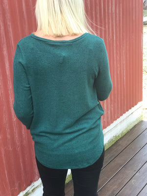 Hunter Green Front Knot Top