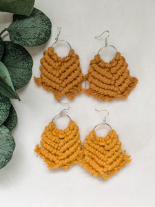 Cedar Street Macrame Earrings