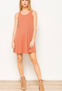 Coral Strappy Back Dress