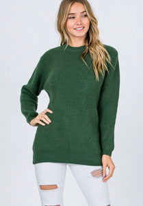 Hunter Green Highneck Sweater