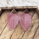 Large Diamond Fringe Earrings