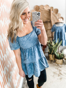 Chambray Babydoll Tunic/Dress