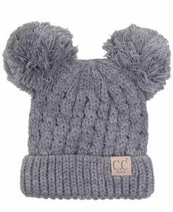 Kid's Double Pom Beanie