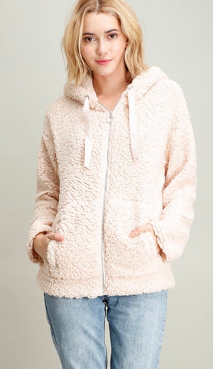 Zip Up Teddy Jacket