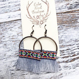 Cedar Street Aztec Fringe Earrings