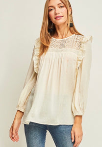 Ivory Swiss Dot Lace Top