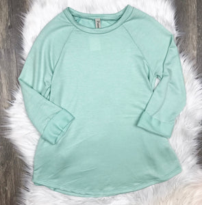 The Runaway Rascal Dusty Mint Raglan Tunic Top