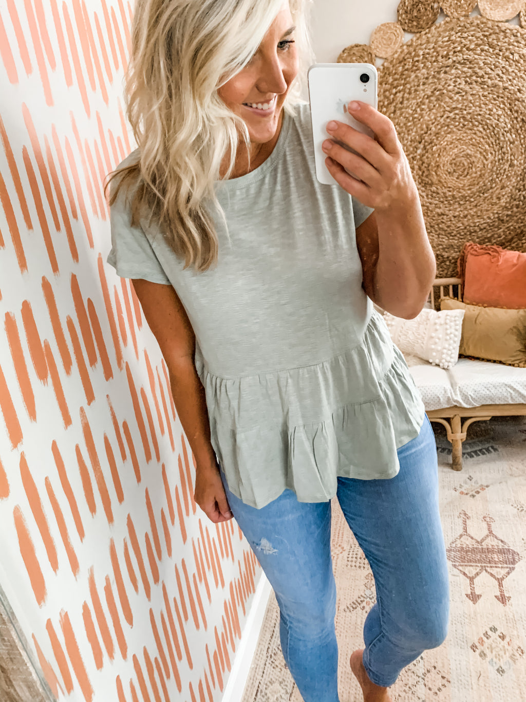 Sage Tiered Basic Top