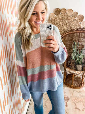 Lightweight Color Block Sweater