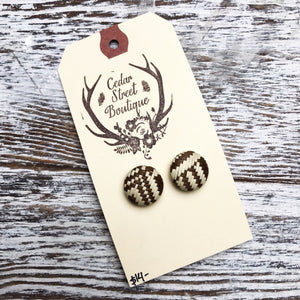 Cedar Street Boutique Patterned Studs