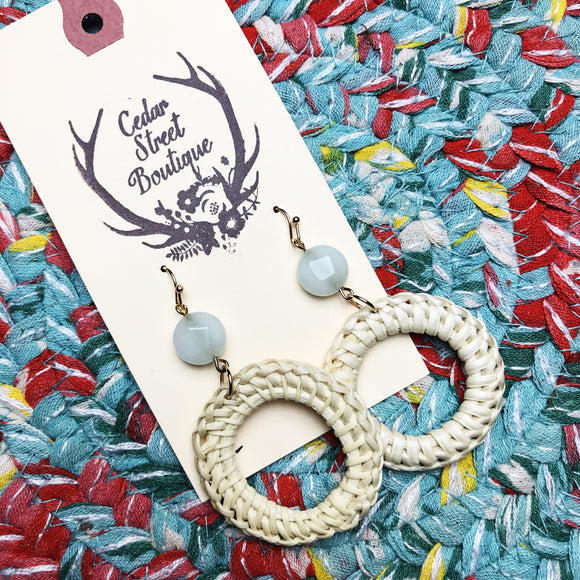 Cedar Street Boutique Wicker Drop Earrings