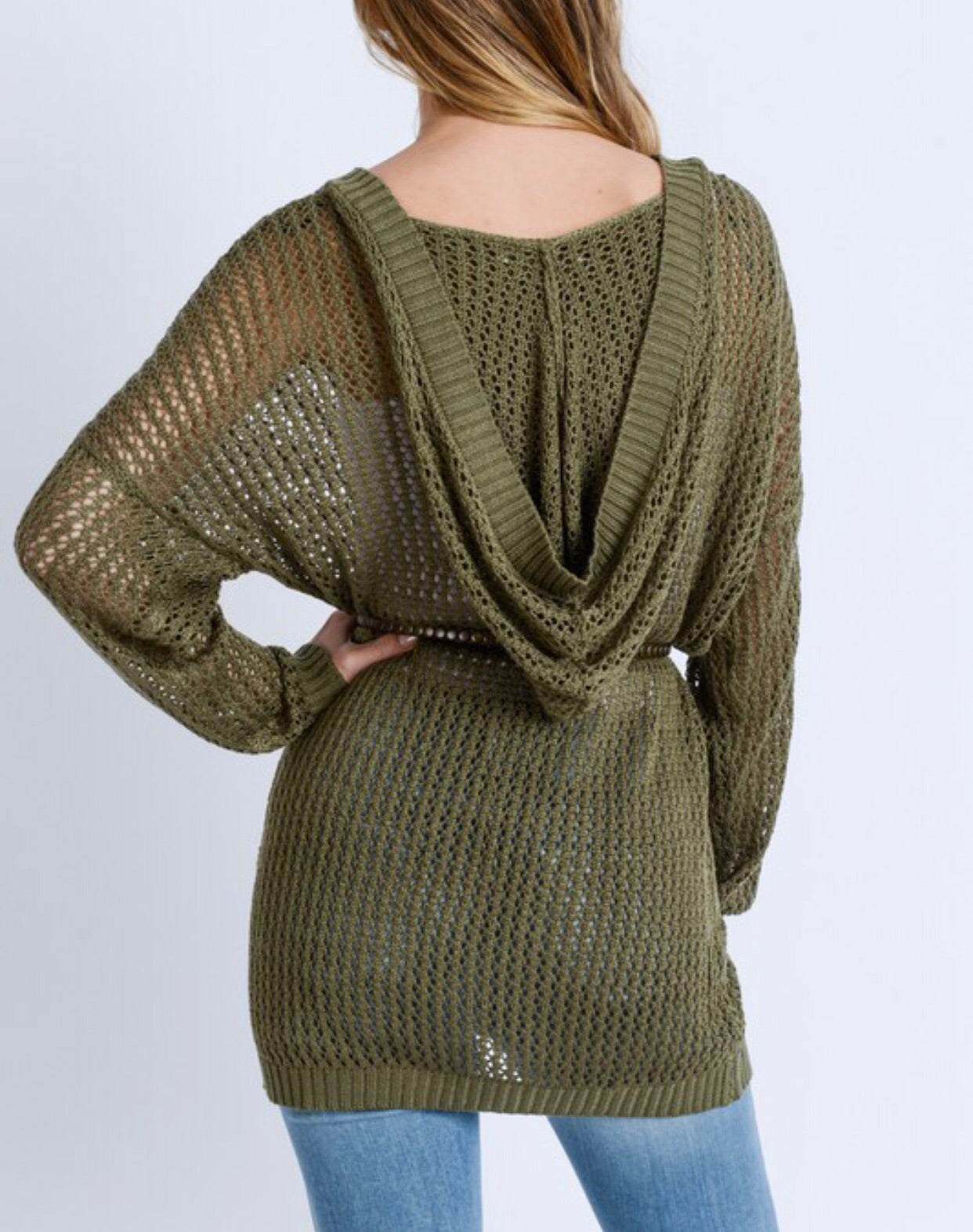 Olive Hooded Cardigan