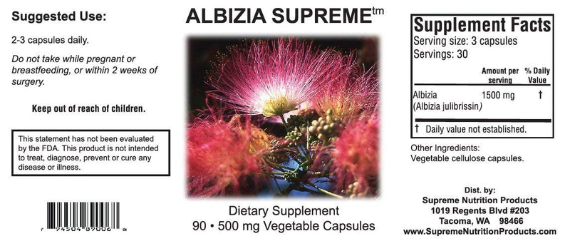Albizia Supreme - Helps Anxiety, Depression, & Insomnia