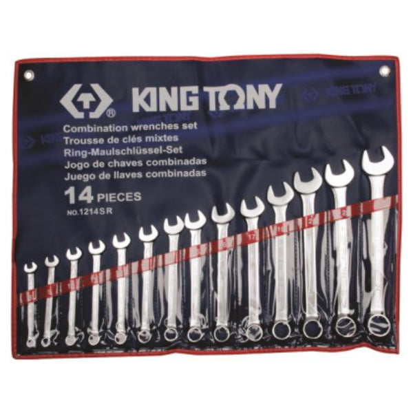 SPANNER SET 14PC COMB 5/16``-1.1/4`` - King Tony - Dizzel Shopping