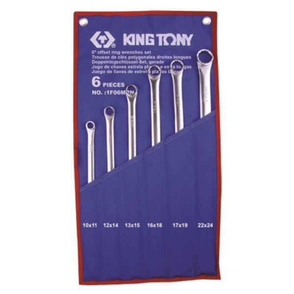 SPANNER SET 6PC 0 OFF SET 10-24MM EXTRA LONG - King Tony - Dizzel Shopping