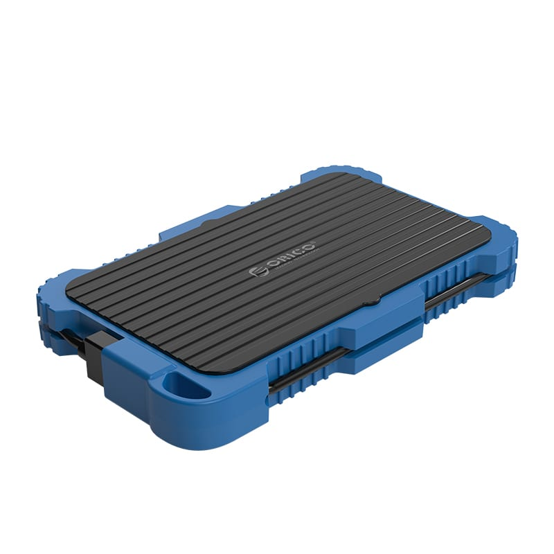 Orico 2.5 USB3.0 External HDD Rugged Enclosure with Hook - Blue