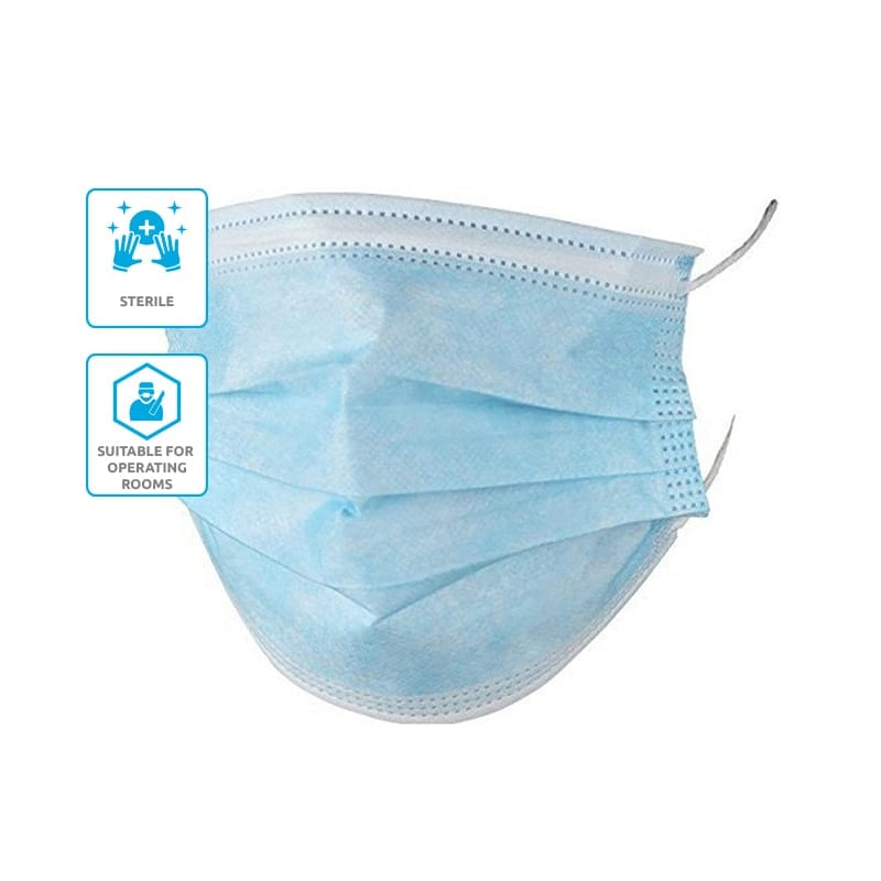 3-Ply Surgical Face Mask Pack - 2000 Units