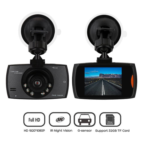 2.7 Inch Car DVR Camera Full HD 1080P 140 Degree  Dual Lens Night Vision Dash cam ** Local Stock ** - Dizzel Shopping