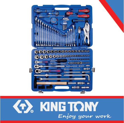 1/4″ – 3/8″ & 1/2″ Combination Socket & Wrench Set – 143pcs - Dizzel Shopping