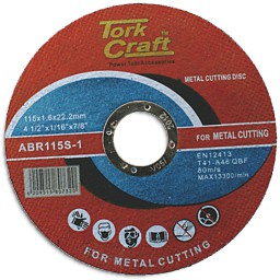 Tork Craft - Cutting disk Steel & stainless steel 115 x 22.2mm