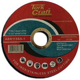 Tork Craft - Cutting Disk Stainless Steel 115mm x 22.22mm