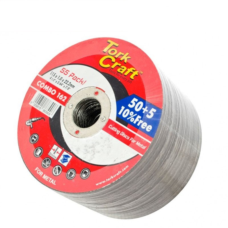 Tork Craft - 50 + 5 Free Cutting Disc Metal 115 X 1.0 X 22.2 Mm