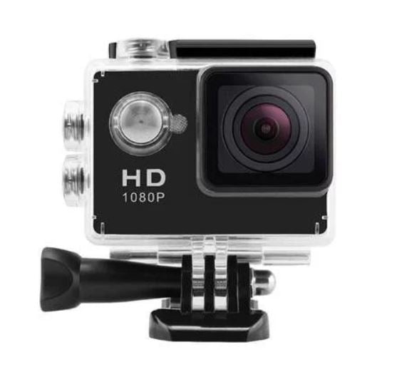 Action Cam Waterproof 1080P Full HD - Black - Dizzel Shopping
