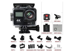 Ultra 4K Waterproof Touchscreen Sports Camera with Remote - Dizzel Shopping