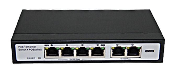 Folksafe 4-Port 10/100Mbps PoE Switch 120w PSU Adapter