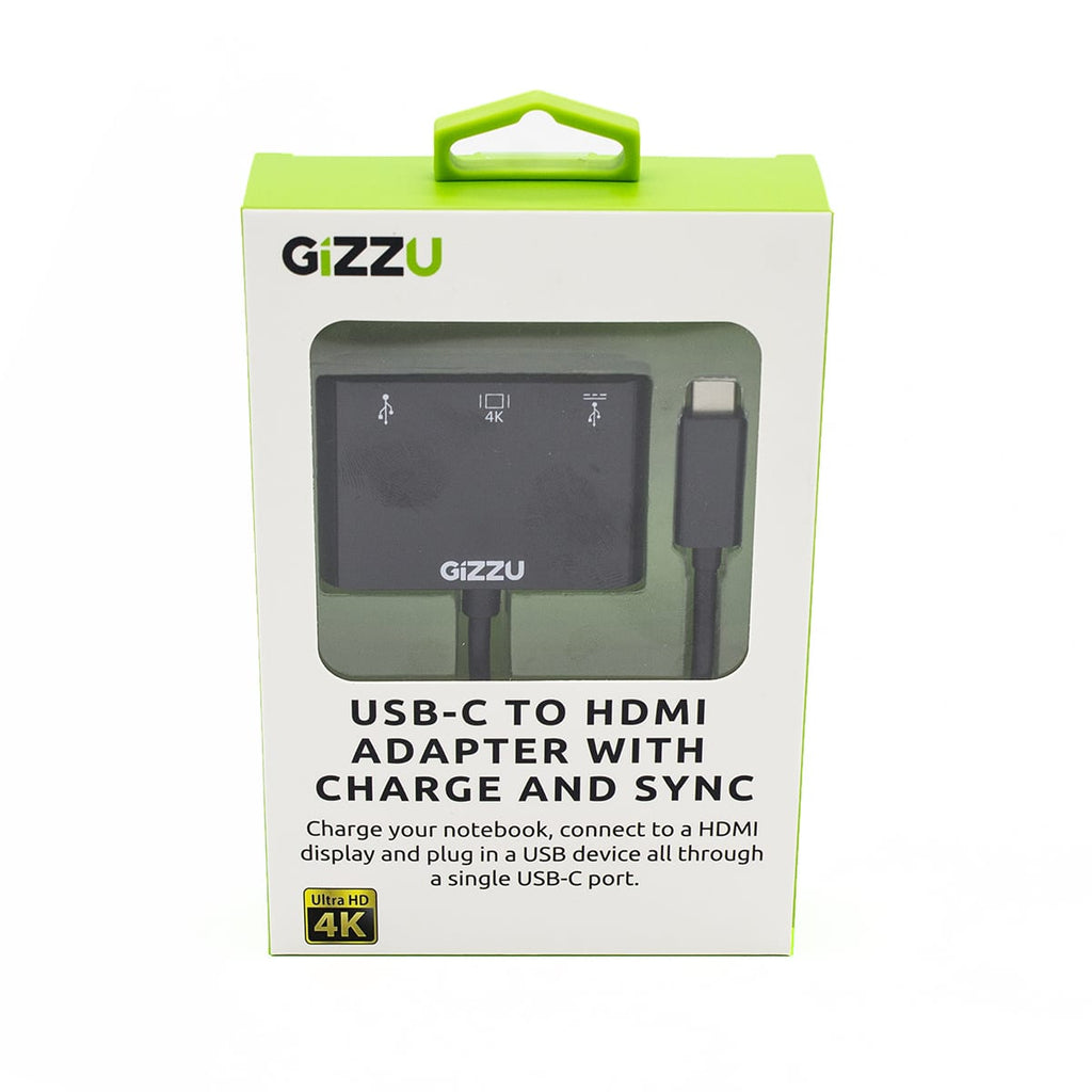 GIZZU USB-C to USB3.0 | HDMI | USB-C Data and Charging Adapter