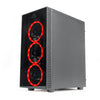 Redragon THUNDERCRACKER 3xRGB LED Tempered Glass Side/Front ATX Gaming Chassis Black