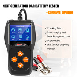 KONNWEI KW600 12V Car Battery Tester 100 to 2000CCA 12 Volt Battery tools for the car Quick Cranking Charging Diagnostic - Dizzel Shopping