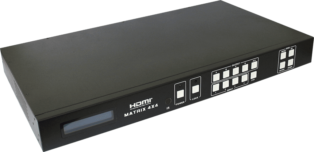 HDCVT 4x4 HDMI 4k Matrix over HDBaseT 100m Include Receivers