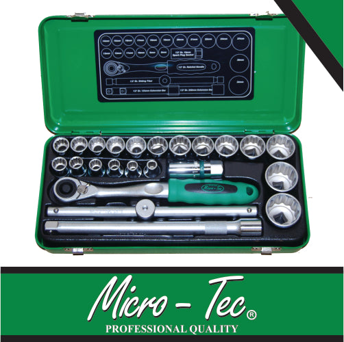1/2″ Socket Wrench Set 24 Pc - Dizzel Shopping